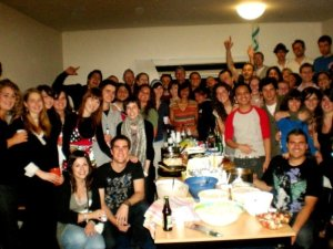 International student dinner in Arnhem, Netherlands.