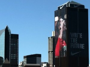 Nike ad in Johannesburg during World Cup 2010