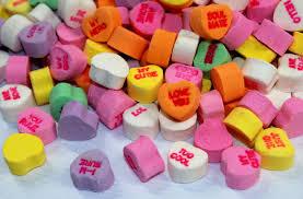 gross chalk heart candy