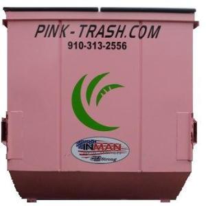 pink dumpster