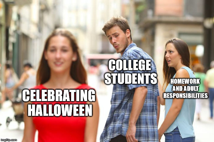 Halloween Meme Distracted boyfriend