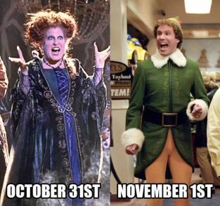 halloween to elf